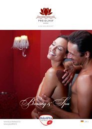 Wellness & Beauty Katalog Preidlhof - Dolce Vita Hotels
