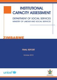 Institutional Capacity Assessment - Oxford Policy Management