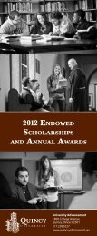 2012 EndowEd ScholarShipS - Quincy University