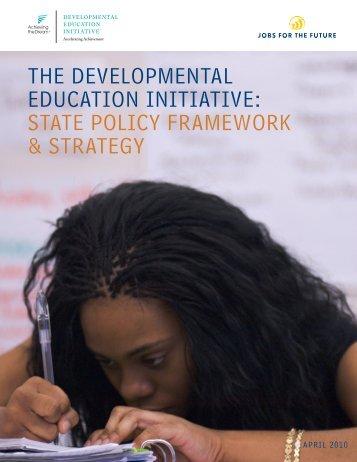 the developmental education initiative - Jobs for the Future