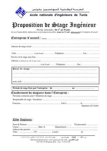 Proposition de Stage Ingénieur - Enit