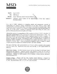 MSD's Corrective Action Update Dated 6/15/2012