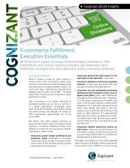 E-commerce Fulfillment Execution Essentials - Cognizant