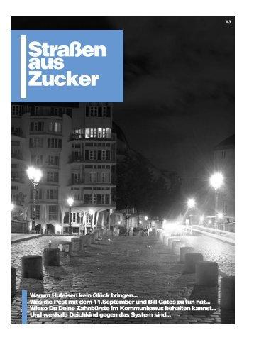 """""""Straßen aus Zucker""""-Shirts, -Hoodies und -Beutel gibt's bei DirAction"""