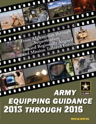 Army Equipping guidance 2013-2016 - Defense Innovation ...