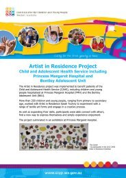 Artist in Residence Project - Ccyp.wa.gov.au