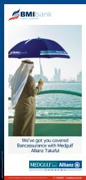 We've got you covered Bancassurance with Medgulf ... - BMI Bank