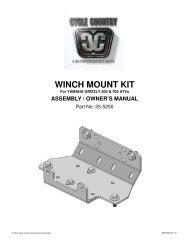 owners manual cc25-5230 - winch mounting kit yam - Schuurman B.V.