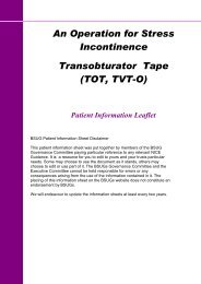 An Operation for Stress Incontinence Transobturator Tape (TOT, TVT ...