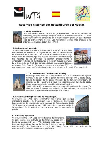 Recorrido histórico por Rottemburgo del Néckar - WTG Rottenburg ...