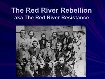 The Red River Rebellion