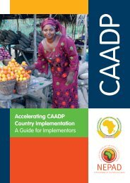 Accelerating CAADP Country Implementation A Guide for ...