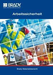 Brady Materialübersicht - Kennzeichnungen.de