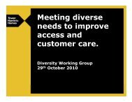 Meeting diverse needs to improve access and customer care
