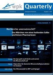 PDF zum Download: WPK-Quarterly I 2010