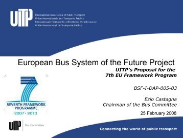 European Bus System of the Future Project