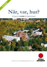 Engelska parkens - Uppsala universitet