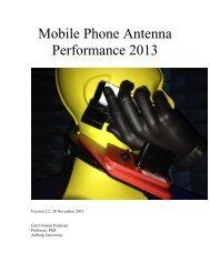 Mobile Phone Antenna Performance 2013 - Erhvervsstyrelsen