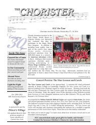 The Chorister Fall 2010 - Syracuse Childrens Chorus