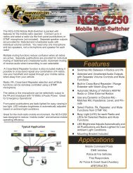NCS-C250 Mobile Multi-Switcher - New Communications Solutions