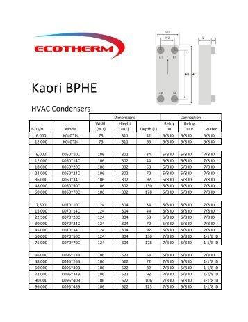 Condensers BPHE (PDF) - Ecotherm