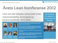 Årets Lean konferanse 2012 - Samarbeidsutvikling