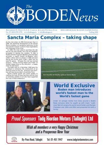 Boden News No. 35 Nollaig 2008 - Ballyboden St. Enda's GAA