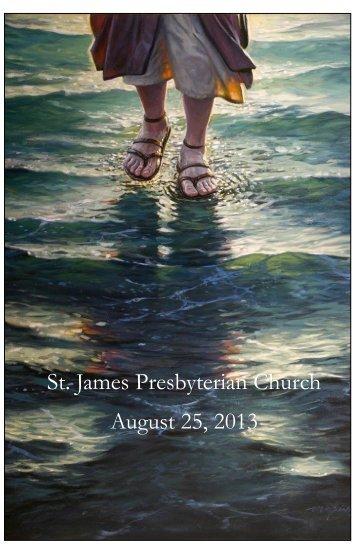 St. James Presbyterian Church August 25, 2013 - Saint James ...