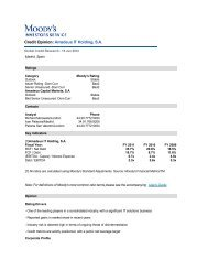 Credit Opinion: Amadeus IT Holding, S.A. - Investor relations at ...