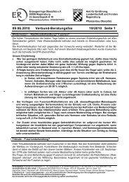 09.06.2010 Verbund-Beratungsfax 19/2010 Seite 1
