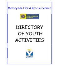 DIRECTORY OF YOUTH ACTIVITIES - BrandweerKennisNet
