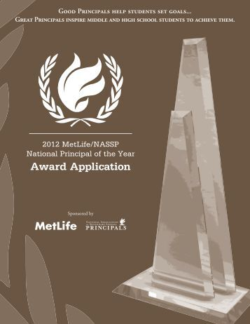 2012 MetLife/NASSP National Principal of the Year