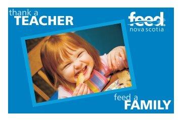 TEACHER FAMILY - Feed Nova Scotia