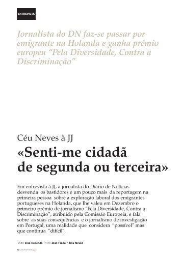 «Senti-me cidadã de segunda ou terceira» - Clube de Jornalistas
