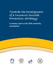 Towards the Development of a Nunavut Suicide Prevention Strategy: