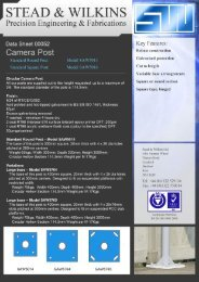 Camera Post Data Sheet - Stead and Wilkins