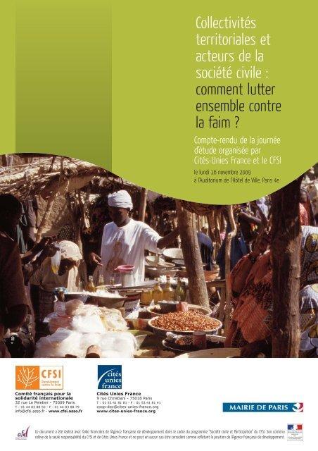 Actes de la journée du 16 novembre 2009 - Cités Unies France