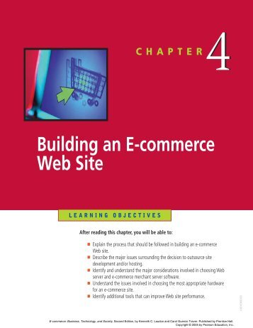 Building an E-commerce Web Site - Pearson Learning Solutions