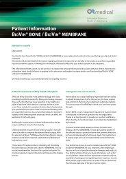 Patient information - OT medical GmbH
