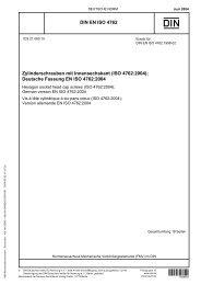 DIN EN ISO 4762 Zylinderschrauben mit Innensechskant (ISO 4762 ...