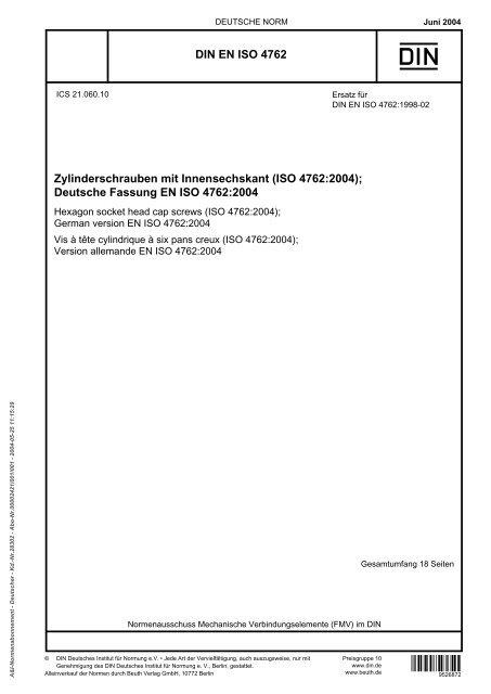 form 965 and 8992  DIN EN ISO 9 Zylinderschrauben mit Innensechskant (ISO ...