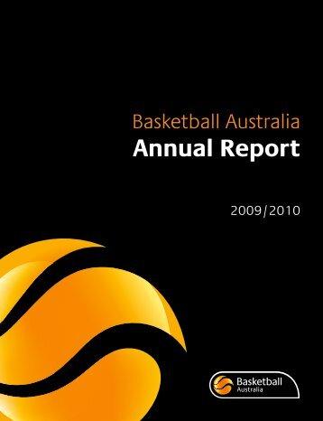2009/10 Annual Report - Basketball Australia