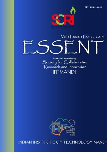 Issue1. Vol.1 (April, 2013) - IIT Mandi