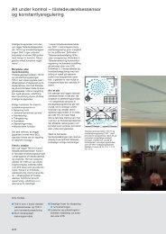 Alt under kontrol – tilstedeværelsessensor og konstantlysregulering