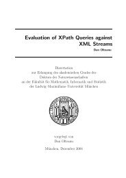 Evaluation of XPath Queries against XML Streams - Ludwig ...