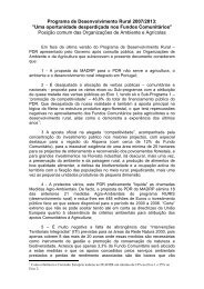 """Programa de Desenvolvimento Rural 2007/2013: """"Uma ... - CNA"""