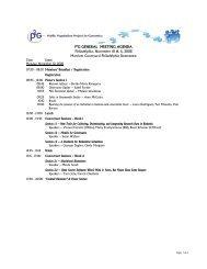 P3G GENERAL MEETING AGENDA Philadelphia, November 10 ...