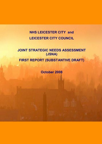 FIRST REPORT (SUBSTANTIVE DRAFT) - NHS