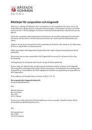 Riktlinjer för synpunkter och klagomål.pdf, 87 kB - Båstads kommun