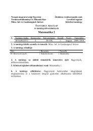 matek 2_SFALRG2312 - NYME Természettudományi Kar - Nyugat ...